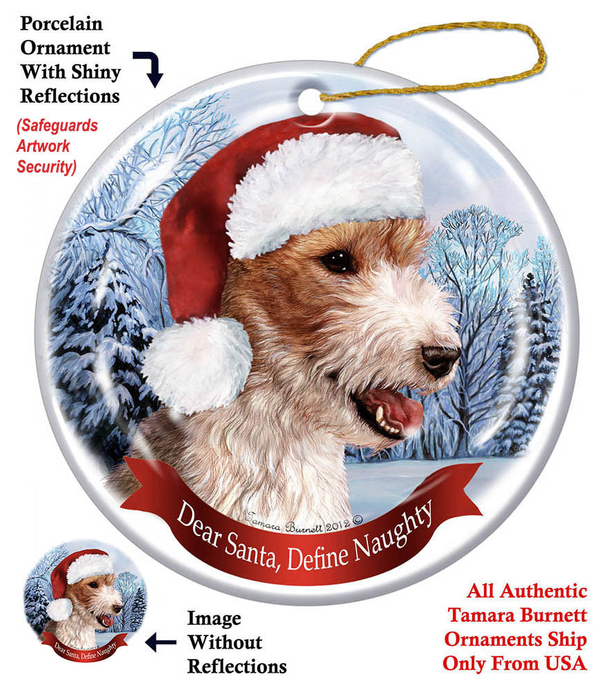 Wirehaired Fox Terrier Howliday Dog Christmas Ornament