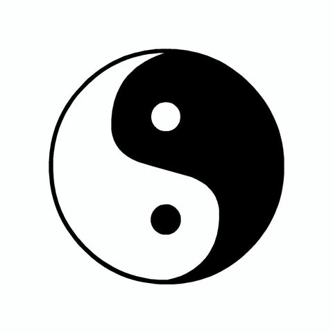 Chinese Yin Yang Peace Vinyl Car Sticker