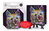Yorkshire Terrier Yorkie All You Need Is Love And A Dog Dean Russo Drink Coaster