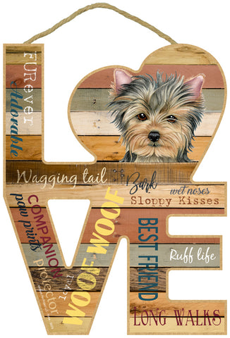 Yorkie Love Sign