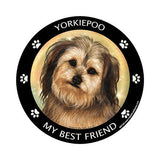 Yorkiepoo My Best Friend Dog Breed Magnet