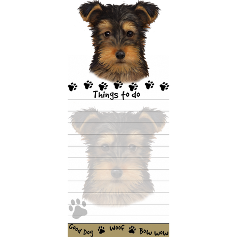Yorkshire Terrier Puppy Yorkie List Stationery Notepad