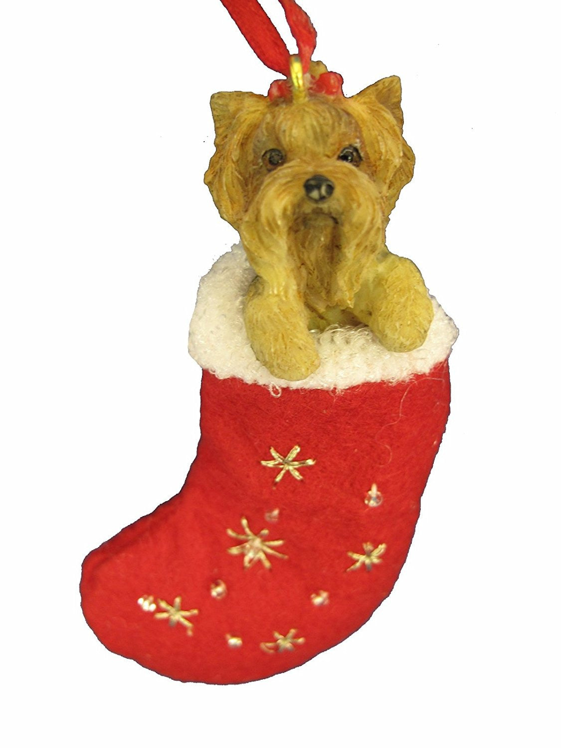 Santa's Little Pals Yorkshire Terrier Yorkie Puppy Christmas Ornament