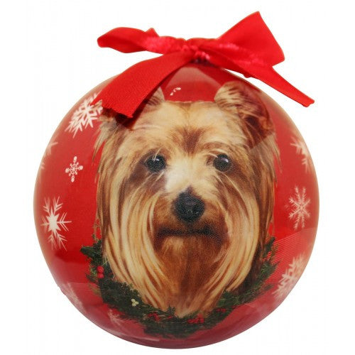 Yorkshire Terrier Yorkie Shatterproof Dog Breed Christmas Ornament