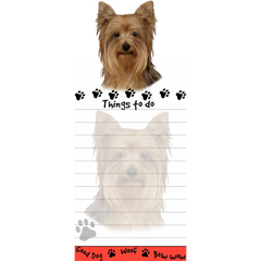 Yorkshire Terrier Yorkie List Stationery Notepad