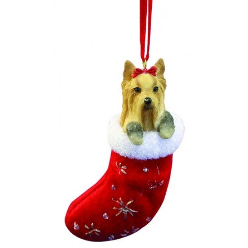 Santa's Little Pals Yorkshire Terrier Yorkie Christmas Ornament