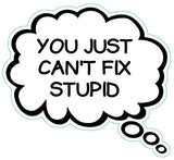 You Just Can't Fix Stupid Brain Fart Car Magnet