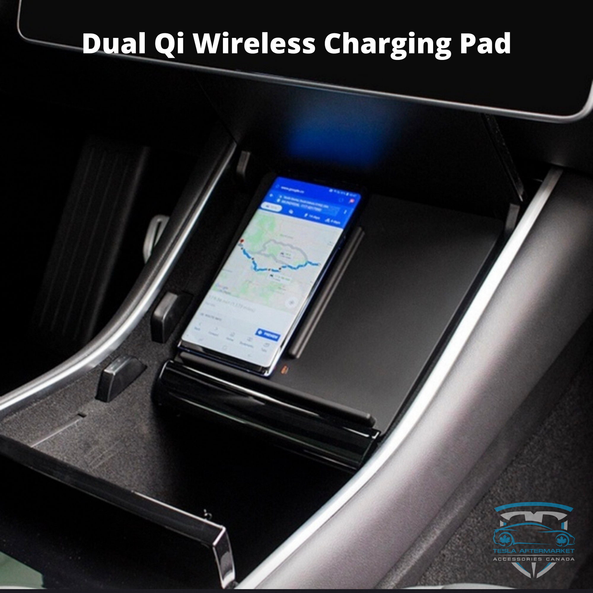 Dual Qi Wireless Charging Pad - Model 3
