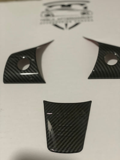 Gloss Carbon Fiber Model 3/ Y Steering Trim (3pcs)