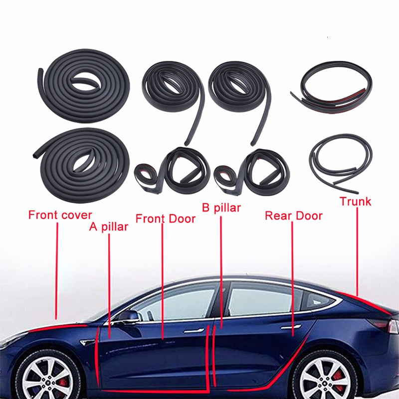 Road Noise Reduction Kit - Model 3/Y (10Pcs)