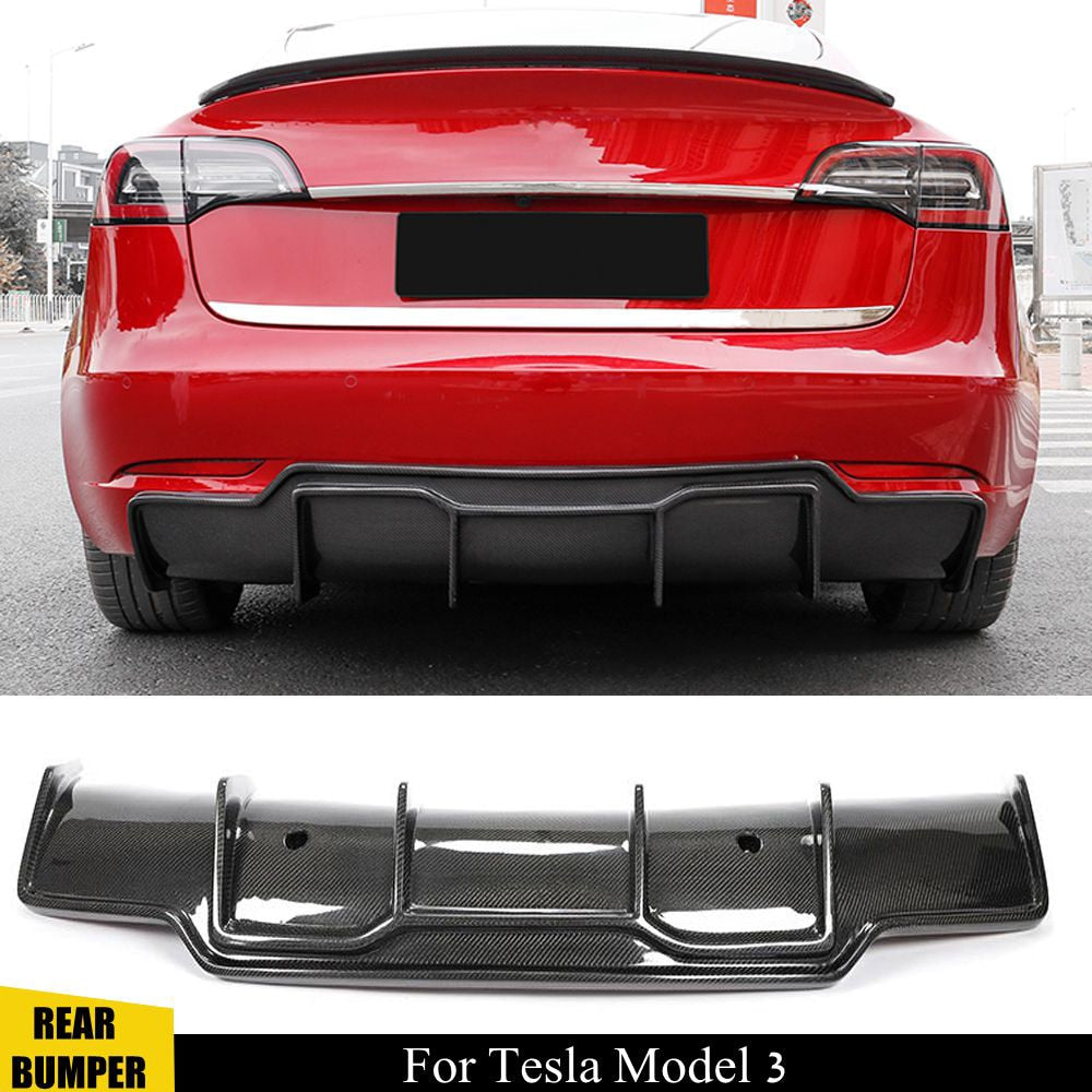 Carbon Fiber Rear Diffuser for Model 3