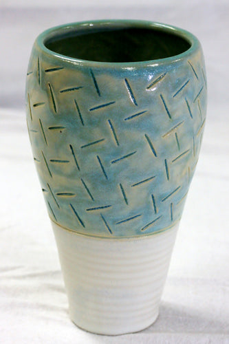 Blizzard Blue Slash Vase
