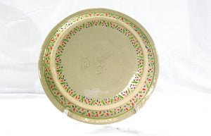 Large Impression Tropicale Plate / Multi-color and white
