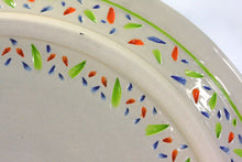 Load image into Gallery viewer, Large Impression Tropicale Plate / Multi-color and white