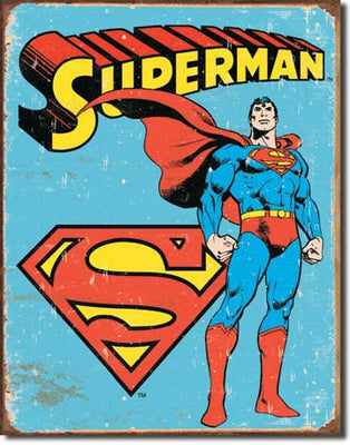 Superman Retro Tin Sign