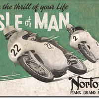 Norton - Isle of Man Tin Sign