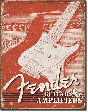 Fender Weathered Tin Sign