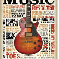 Music Inspires Me Tin Sign