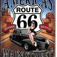 Route 66 - America's Main Street Tin Sign