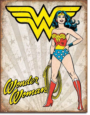 Wonder Woman Heroic Tin Sign