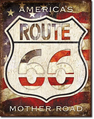 Route 66 - America's Road Tin Sign