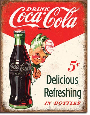 Coke - Sprite Boy 5 Cents Tin Sign