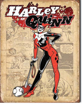Harley Quinn Retro Tin Sign