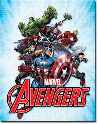 Avengers Ensemble Tin Sign