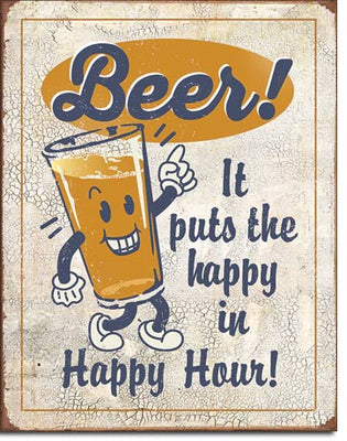 Happy Hour - Beer Tin Sign