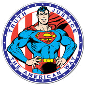 Superman - American Way Round Tin Sign