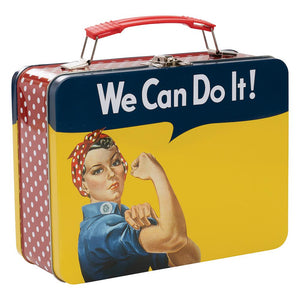 Rosie the Riveter Tin Tote