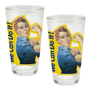 Rosie the Riveter - Set of 2 Glasses