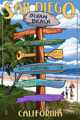 San Diego Destination Sign Magnet
