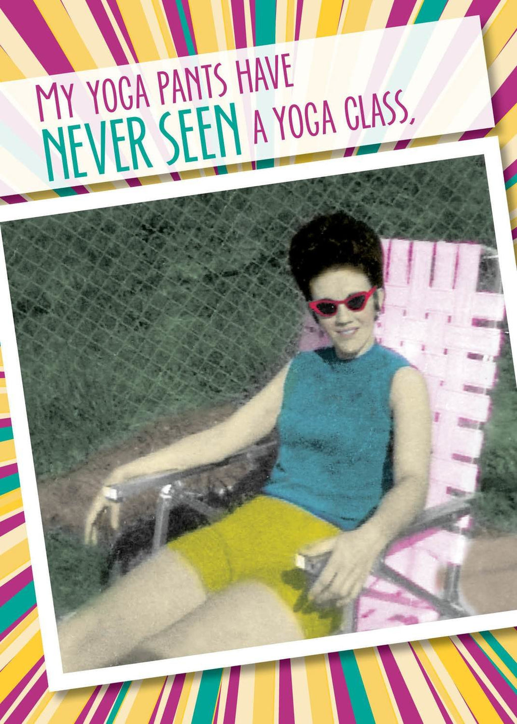 My Yoga Pants - Birthday Card