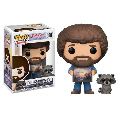 Bob Ross and Raccoon Pop Figure