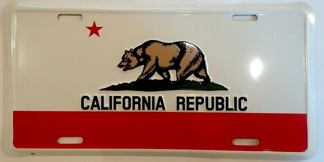 California State Flag License Plate