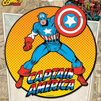Captain America Retro Car Magnet