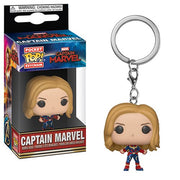 Captain Marvel Unmasked Pop Keychain