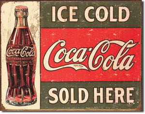Coke 1916 Ice Cold Tin Sign