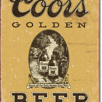 Coors Golden Tin Sign
