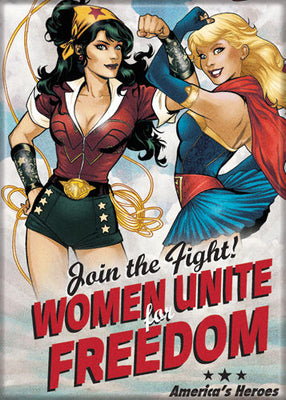 Bombshell Wonder Woman & Supergirl Magnet