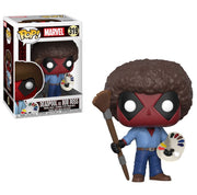 Deadpool as Bob Ross Pop Figure