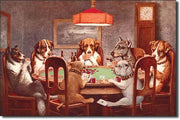 Dogs Playing Poker Tin Sign