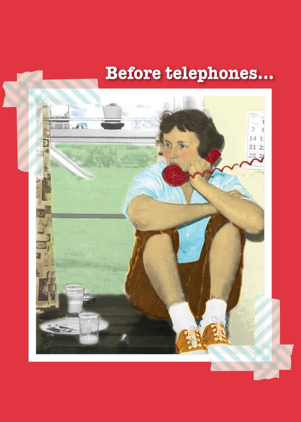 Before Telephones - Friendship Card