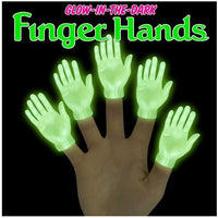 Glow in the Dark Finger Hands