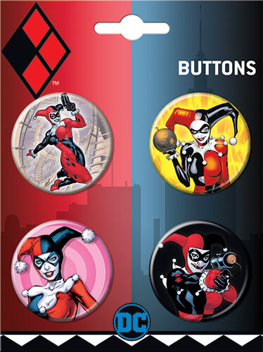 Harley Quinn 4 Button Set #2