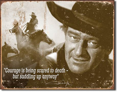 John Wayne - Courage Tin Sign