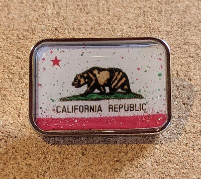 California Splatter Flag Pin