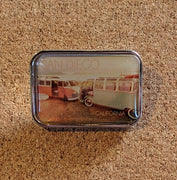 Camper Vans on Beach Pin