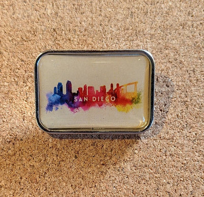 SD Abstract Skyline Pin